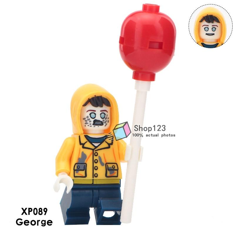 Building Blocks Movie Cartoon Clown Character George Beverly Model Toys DIY 8PCS