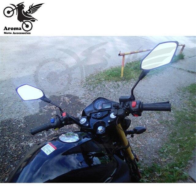 black carbon fibre color universal 10mm 8mm screw motocross ATV Off-road dirt pit bike motorbike side mirror for benelli yamaha suzuki kawasaki honda cb500x cb650f pcx 125 accessories moto rearview motorcycle mirror 5