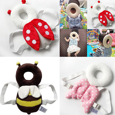 Cute Baby Infant Toddler Head Back Protector Safety Pad Harness Headgear