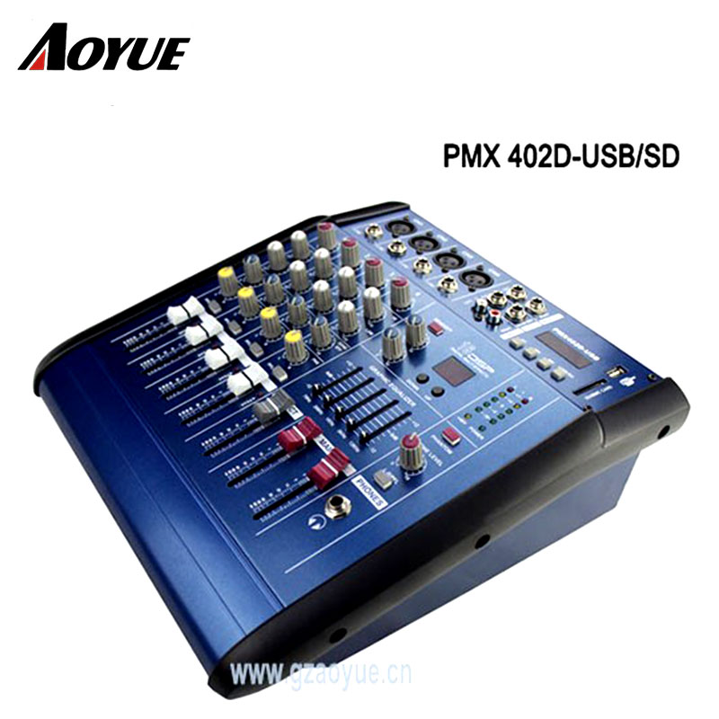 4 channels mixer dj digital usb interface audio mixer pmx402d in amplifier from consumer. Black Bedroom Furniture Sets. Home Design Ideas