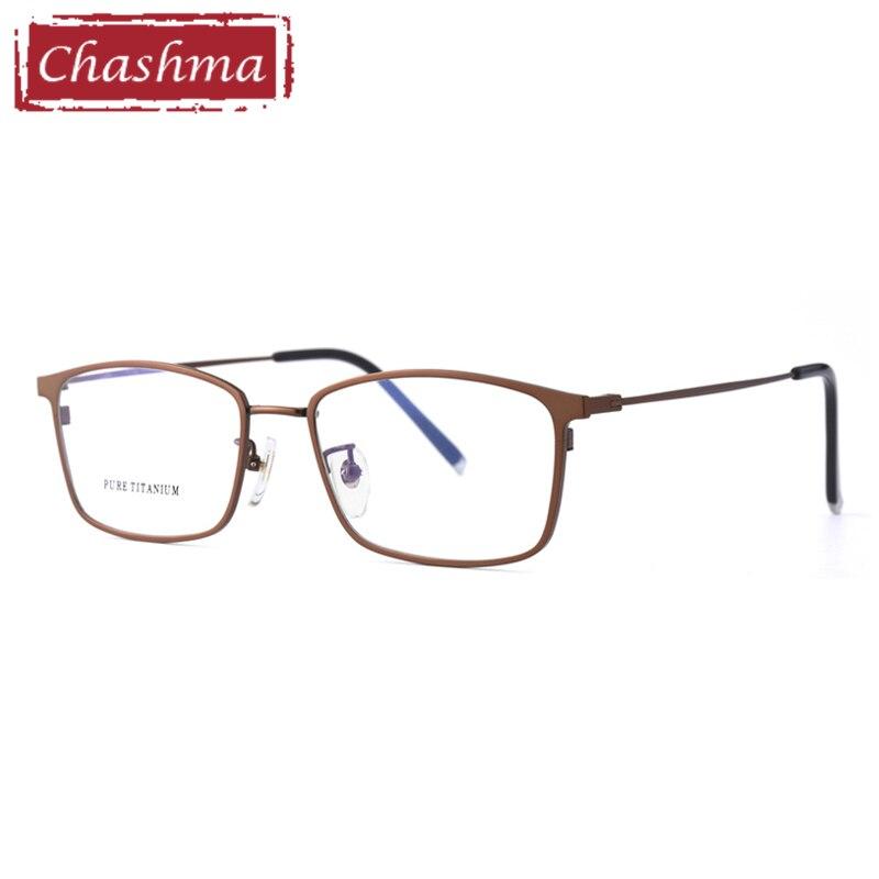 Men Optical Glasses Frame Pure Titanium Flexible Light Eyewear Fashion Eye Glasses for Prescription Lenses Transparent