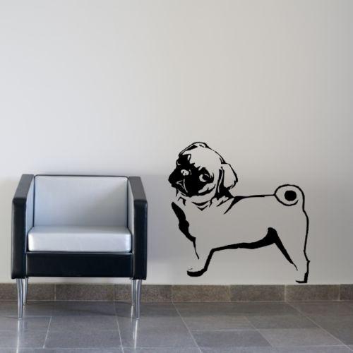 6db792193be6c Wy001 CARLIN CHIEN Belldog wall sticker animaux murale transfert en voiture  grand sticker animaux animal Accueil salon Chambre décor dans Stickers  muraux de ...