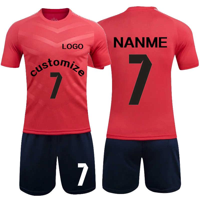 Для мужчин футбольные майки установить 2018 2019 Survete Для мужчин t Футбол  комплект молодежи взрослых Униформа 4b2fda31efd
