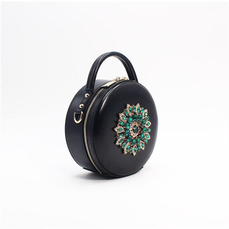 BENVICHED женская сумка из натуральной кожи крупного рогатого скота 2019 Новая Бриллиантовая модная сумка на плечо ретро мини сумка c389 - 2