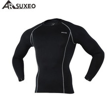 ARSUXEO Cycling Sports Running Fitness Bike Bicycle Baselayer Underwear Long Sleeve Jersey Quick Dry Shirt Men