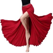 Женская одежда из модала, длинная юбка для танцев, юбка для танца живота с разрезом сбоку