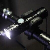 자전거 라이트 2000lm LED 손전등 자전거 테르 램프 세트 전면 토치 방수 헤드 라이트 자전거 USB 충전식 배터