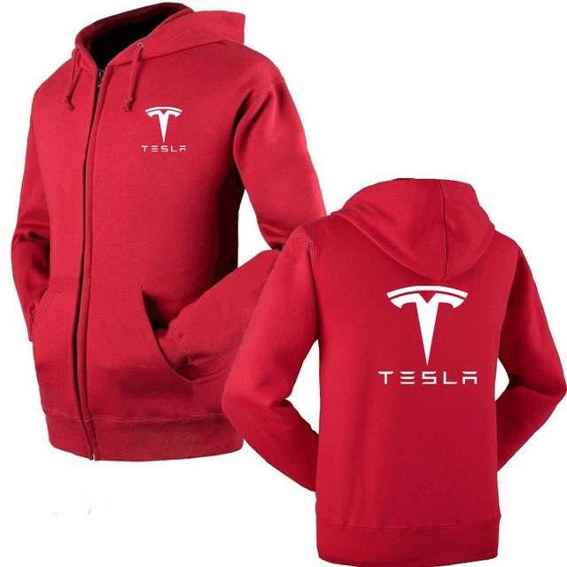 97b576928438 placeholder Tesla Motors printed Hoodies Men Solid Zipper Cardigan Sweatshirts  Slim Fit Sportswear Fashion Casual Tracksuit Dropshipping