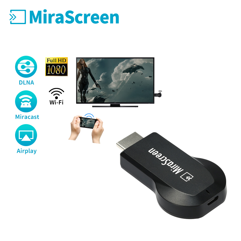 HDMI WiFi Display Receiver 1080P Mirascreen TV Stick DLNA Airplay Miracast Dongle for Phone PC to HDTV Monitor vs Ezcast anycast