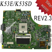 For Asus K53SD REV 2.3 laptop motherboard P53E K53E A53S X53S K53S mainboard 100% tested free shipping