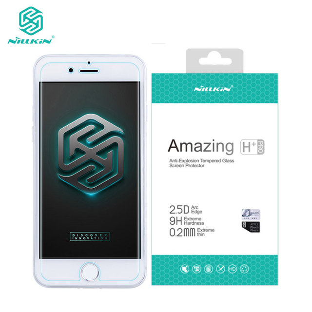 newest 33f58 8c7cd US $7.87 30% OFF|Nillkin Screen Protector Tempered Glass for iPhone 8 7  Plus X XS Max XR Amazing H+Pro sFor iPhone 8 Glass-in Phone Screen  Protectors ...