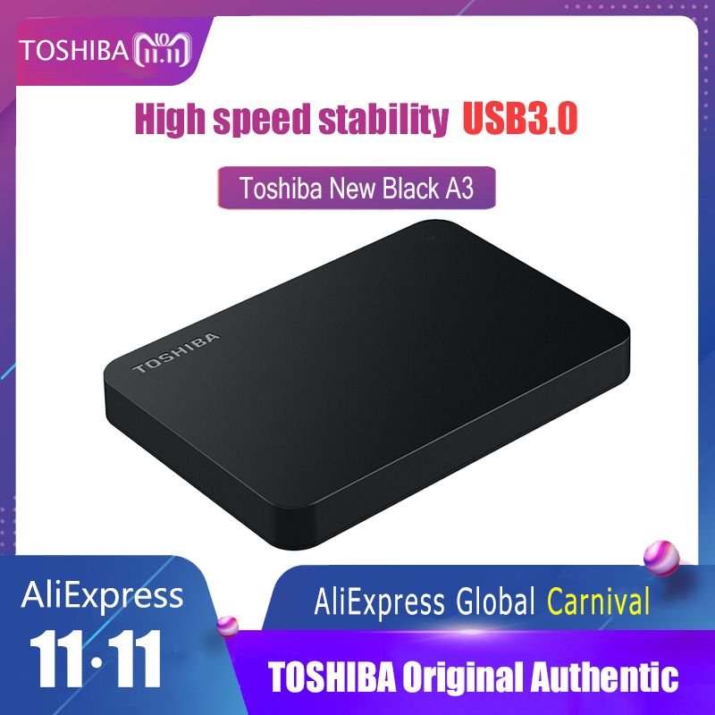 Toshiba Hard Disk Portable 1TB 2TB Free shipping Laptops External Hard Drive 1 TB Disque dur hd Externo USB3.0 HDD 2.5 Harddisk все цены