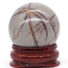 Natural Polchrome Jasper Stone Ball Mineral Quartz Sphere Hand Massage Crystal Healing Feng Shui Home Decor Accessory 30mm
