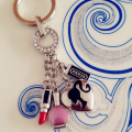 Metal Brand Car Keyring Women Luxury Fashion Key Chain One Piece Keychain Handbag Charms llaveros chaveiro porte clef PWK0453