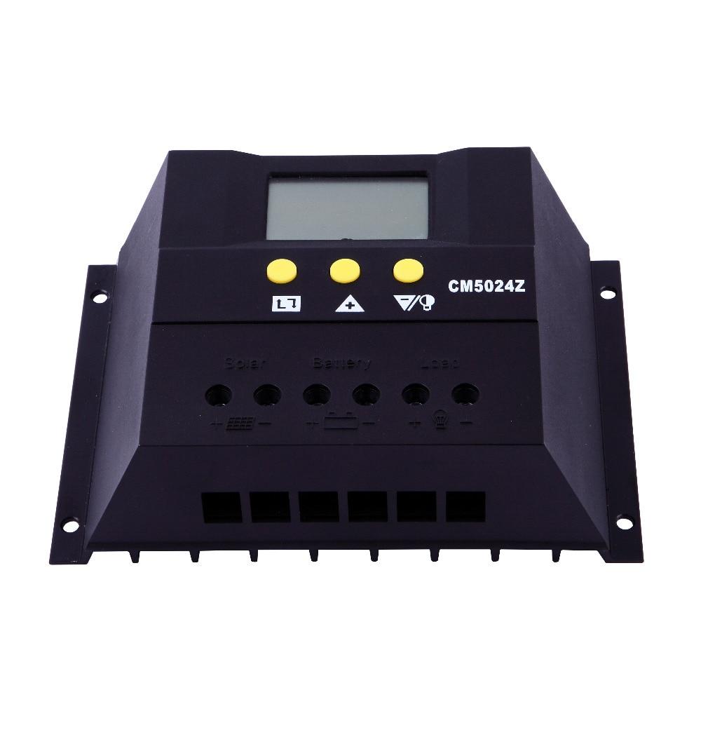 Fiable 50A 48 V commutateur automatique LCD affichage PWM contrôleur de charge de batterie solaire