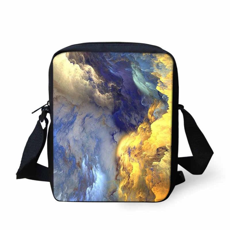 THIKIN Для женщин Курьерские сумки мрамор, Сумка через плечо для детей путешествия мини сумки через плечо модные, подходят для долларовых купюр узор Сумки