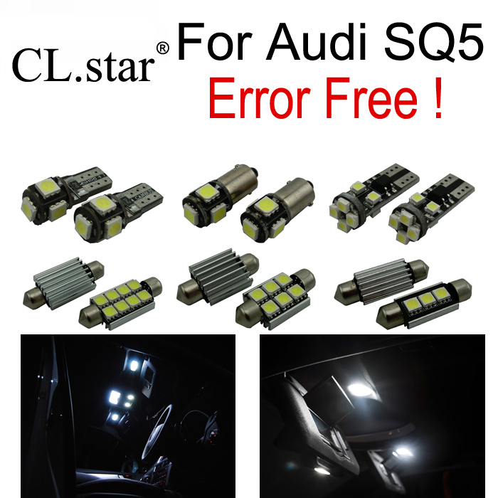 30pcs LED License plate lamp + Reading Bulb Interior dome map Light full Kit Package for Audi SQ5 Sport Quattro (2014-2016) 18pc canbus error free reading led bulb interior dome light kit package for audi a7 s7 rs7 sportback 2012