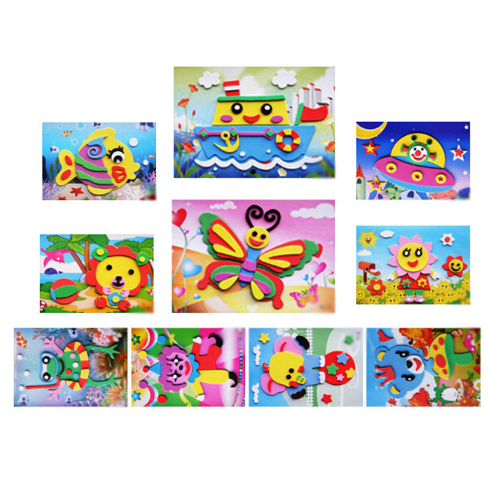 DIY Cartoon Animal 3D EVA Foam Sticker Puzzle  Series Early Learning Education Toys For Children