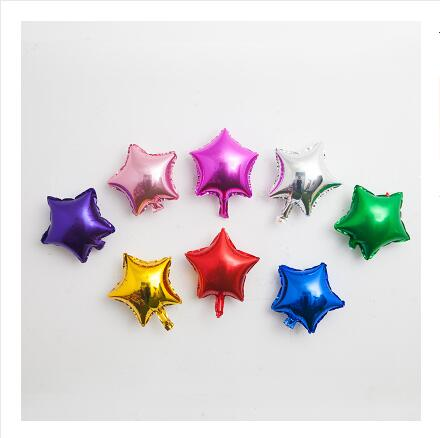 8pcs Party Foil Inflatable Balloons Outdoor Kid Children Toy Air Heart-shaped Star Happy Birthday Wedding Decoration Activity