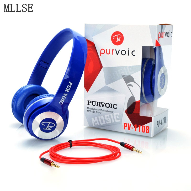 MLLSE Fashion Portable Computer Headphones Noise Canceling Gaming Headset Stereo Headphones with Microphone for Phone Mp3 PC