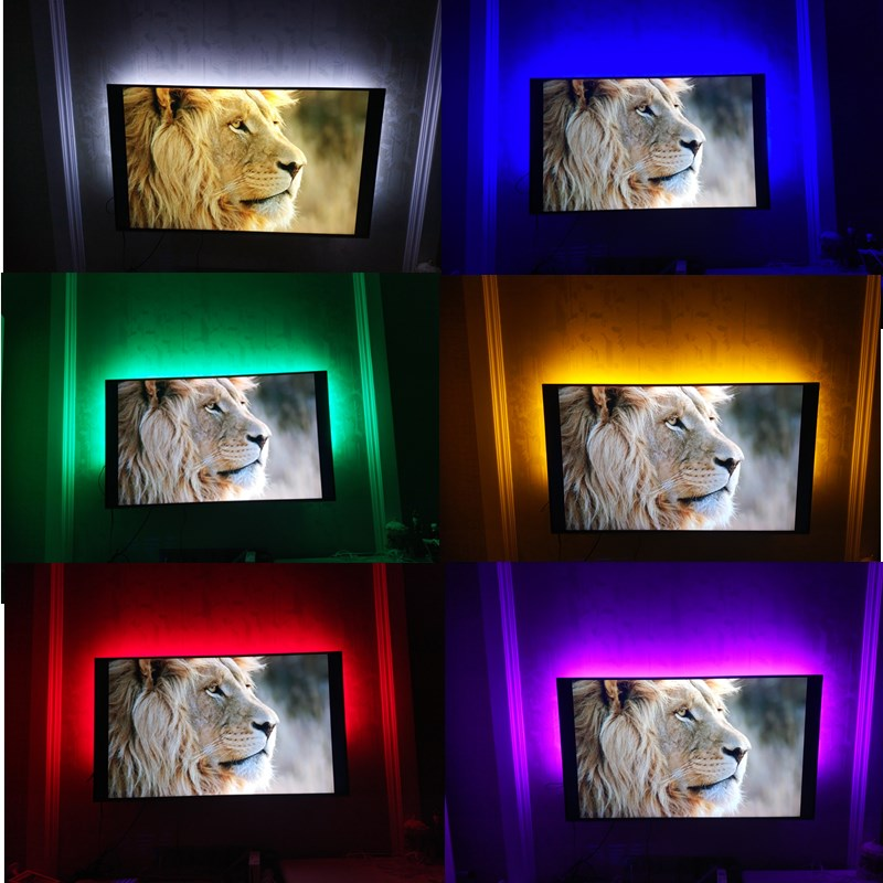 USB LED Strips SMD3528 light 5V adapter string Christmas desk Decor lamp tape For TV Background Lighting 5V 50CM 1M 2M 3M 4M 5M 1