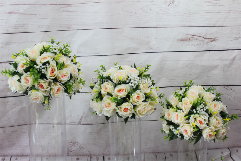 SPR NEW!!Free shipping!10pcs/lot wedding road lead artificial flower ball  table flowers centerpiece flower balls decoration