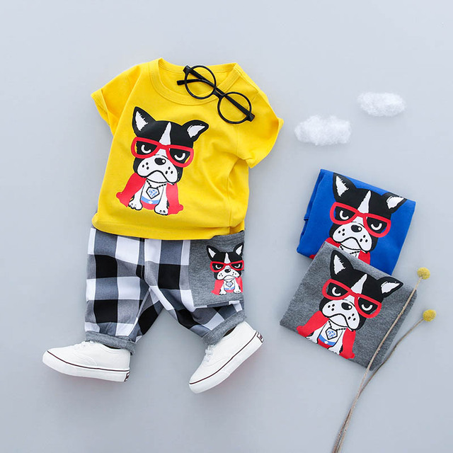 08edf0eaa 2018 New Summer baby sets boys clothes cotton o neck shorts with ...