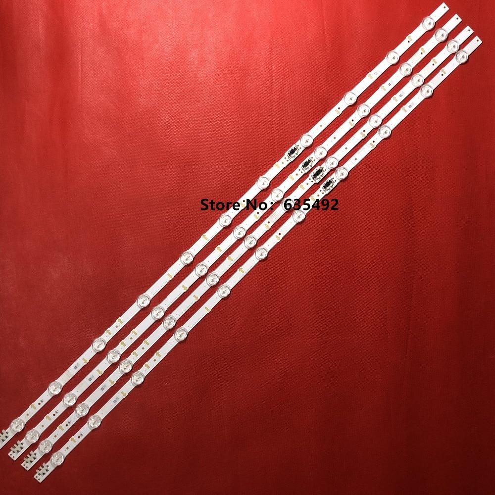 1set=8pcs For Samsung Tv Ua43j5088acxxz S-5j55-43-fl-r4 S-5j55-43-fl-l7 Lm41-00117x/00117w (4pcs 7led +4pcs 4led )