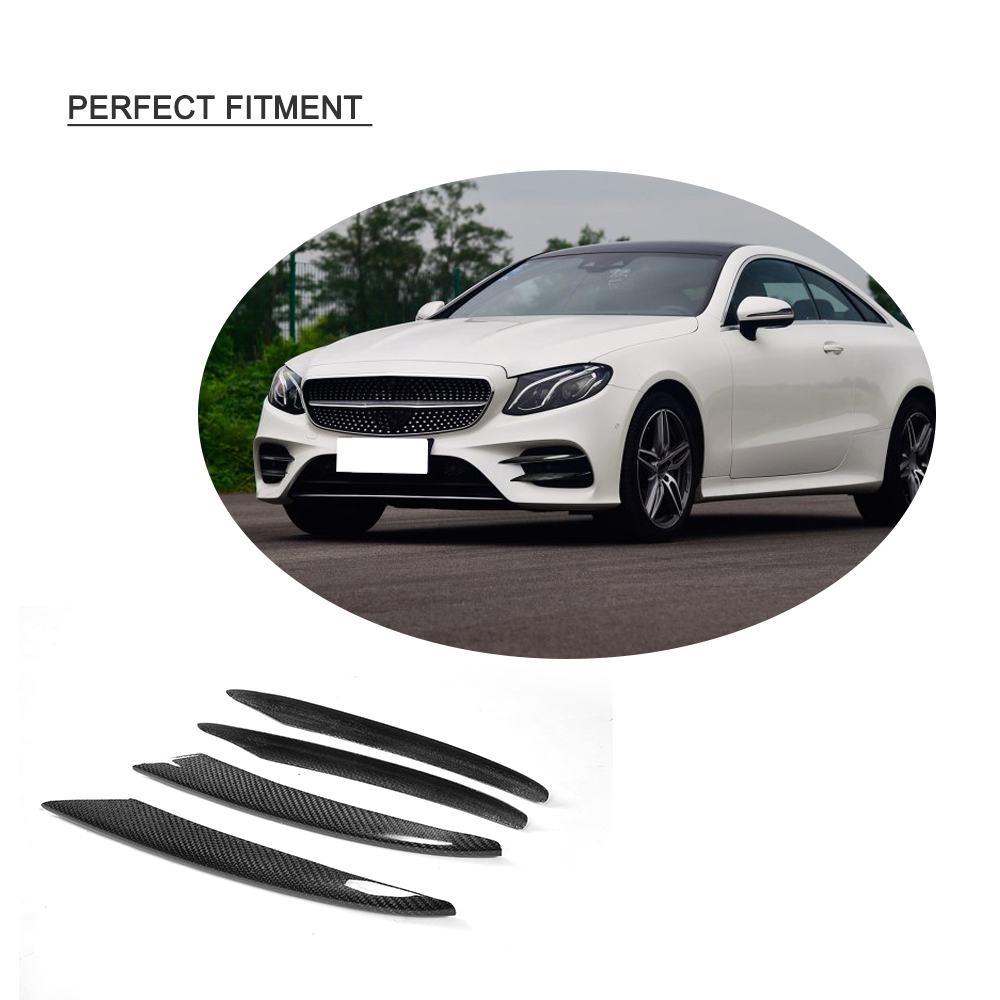 E Class Carbon fiber Front Bumper Vents Fog Lamp Trim for Mercede Benz C238 Sport only 2017 2018 E43 AMG E300 E400
