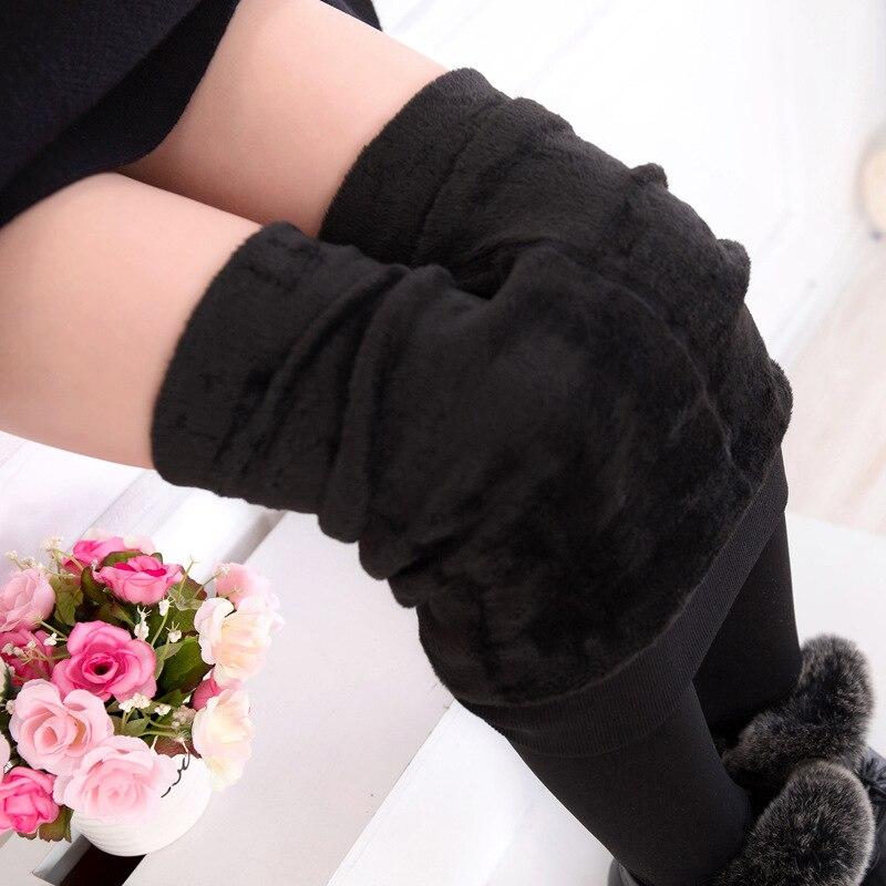 COOTELILI Warm Winter Leggings For Girls Thick Warm Elastic Waist Cotton Leggings Girl Pants Trousers Children Pants 3-15years  (7)