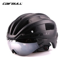 MTB Bicycle Helmet Safety Adult Mountain Road Bike Helmets Casco Ciclismo Man Women Cycling Helmet 1x helmet and 1xgoggles