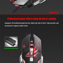 Reliable gaming mouse 6 buttons with scroll wheel 3200DPI LED Optical 6D USB Wired Gaming Game Mouse For PC Laptop mouse