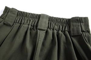 Image 3 - 2019 Moda Kadın Ordu Yeşil Pantolon Yüksek Bel Pantolon Joggers Kadınlar Kargo Pantolon Kadın Ayak Bileği Uzunluğu Pantolon Kadın Pantolon