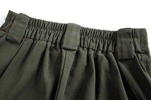 Image 3 - 2020 シックな女性アーミーグリーンのズボンジョギング女性カルドパンツ女性の足首丈パンツ女性のズボン