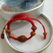 Baby child Evil spirits Yajing Jin Gang Knot Peach wood Lotus beads Peach fish Red rope Bracelet(China)