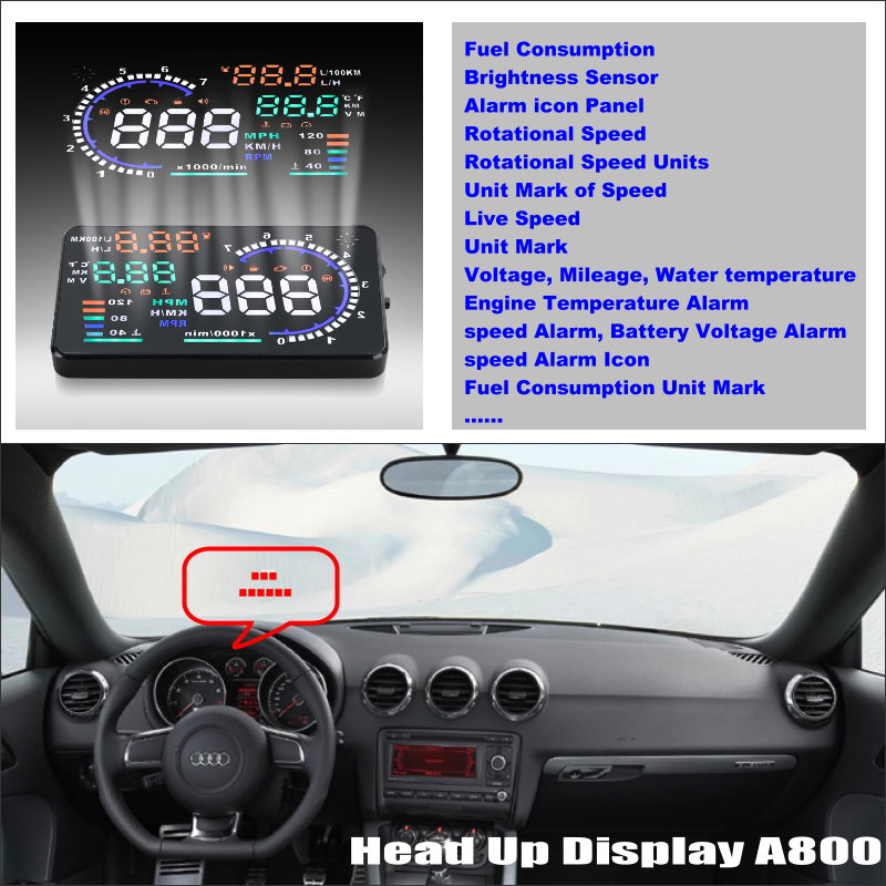 все цены на For Audi TT TTS MK2 8J 2007~2014 - Safe Driving Screen Car HUD Head Up Display Projector Refkecting Windshield