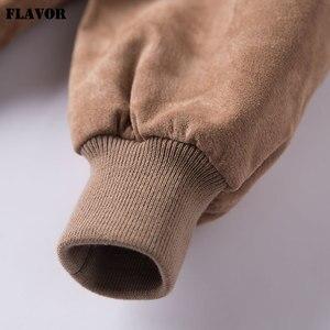 Image 5 - FLAVOR Men klasyczny prawdziwy świński płaszcz prawdziwy Baseball Bomber skórzana kurtka