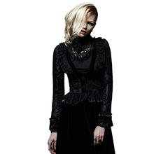 Punk Gothic Women s Dovetail Jacket Slim Fit Lace Short Jacket Palace Fitted Deep V Neck