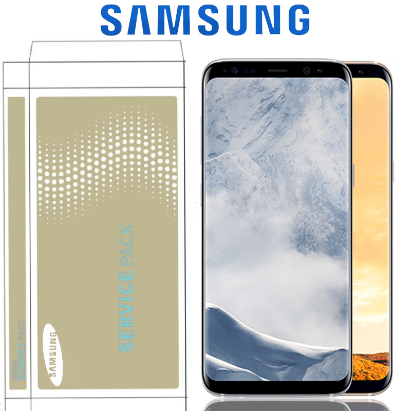 Original 5 8 SUPER AMOLED LCD With Frame For SAMSUNG GALAXY S8 Display G950 G950F G950FD