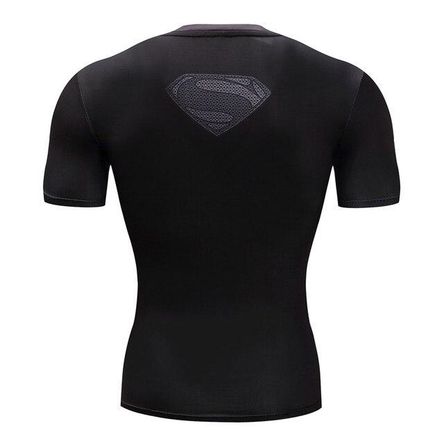 Superman Tshirts Men Compression Shirts Batman Tops The Flash T-shirts Fitness Crossfit Tees Bodybuilding camiseta rashguard 1