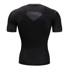 Superman Tshirts Men Compression Shirts Batman Tops The Flash T-shirts Fitness Crossfit Tees Bodybuilding camiseta rashguard