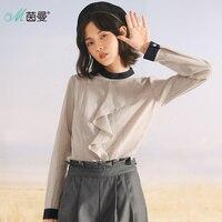 INMAN 2017 Autumn Long Sleeves Women Sweaters And Pullovers Linen Blouse Women Shirt Women Women Tops