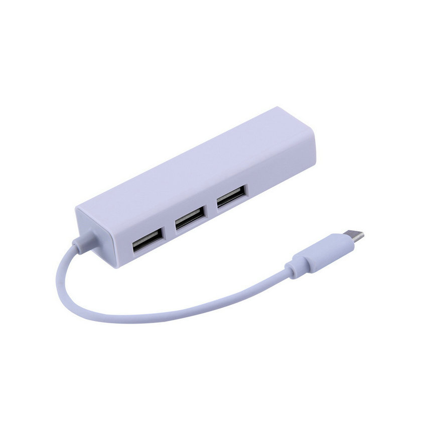 Hot New USB 3.1 Type C USB-C Multiple 3 Ports Hub with Ethernet Network LAN Adapter