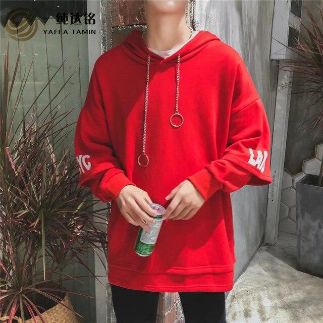 12fa614e1dd Casual Sweatshirts Hoodies men Hoodies with velvet Hoodies men Long Sleeve  white red Casual Sweatshirt Pullover top Hoodies
