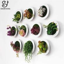 Творческий 3D Искусственные мясистые растения растение для украшения стен фото рамки Метопа книги по искусству пластик поддельные растения для отеля домашний садовый декор