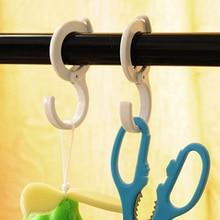 2pcs/lot High Quality Multi-Fuction Clothes&Home Kitchen&Knob Hanger Plastic S Hooks for Key Bag Door Hanging
