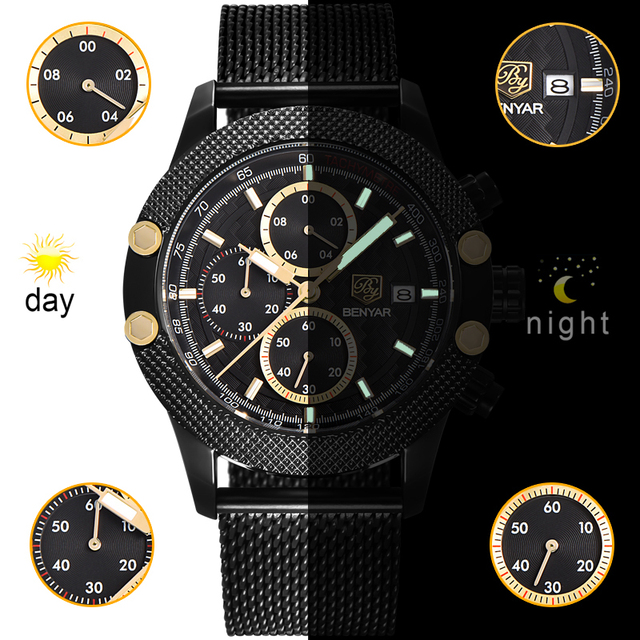Men's Waterproof Quartz Wristwatches
