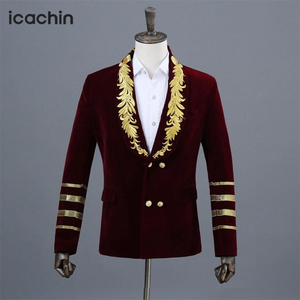 Burgundy Velvet Men Blazer Wine Red Jackets Men Blazer Masculino Blazer Hombre Terno Masculino