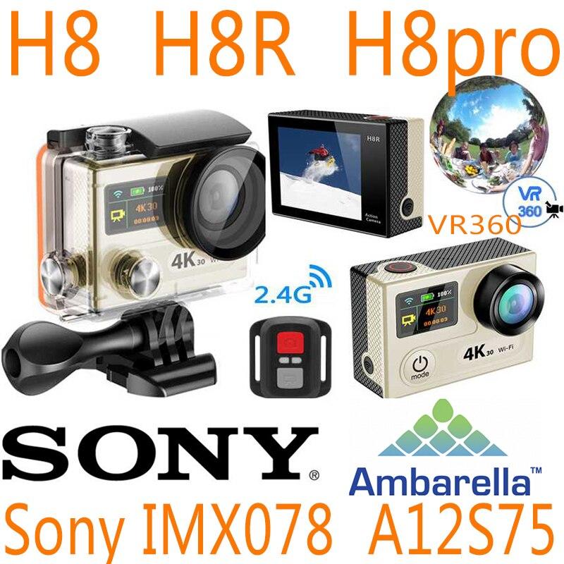 H8R H8 H8pro H8plus H8se V8S Ultra 4K WIFI Action Camera Remote Control VR360 Waterproof eken Full HD 4 VR Sport hero sport cam sport elite se 2450