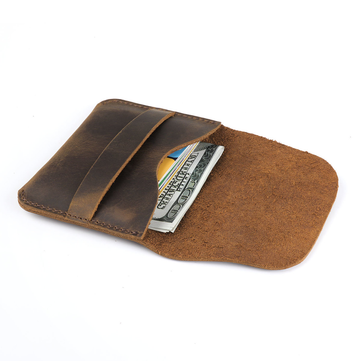 A Moterm 100 Genuine Leather Credit Id Card Holder Vintage